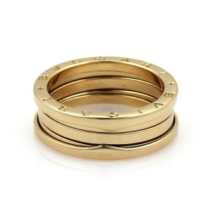 BVLGARI Bulgari B Zero-1 Wide 18k Yellow Gold Band Ring Size EU 60-US 9.25