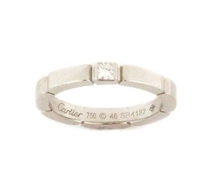 Cartier Maillon Diamond Panthere 18k WGold Band Ring Size 48-US 4.5 Cert