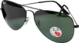 Ray-Ban Ray-Ban Aviator Sunglasses RB 3026 Polarized Black Frame Large
