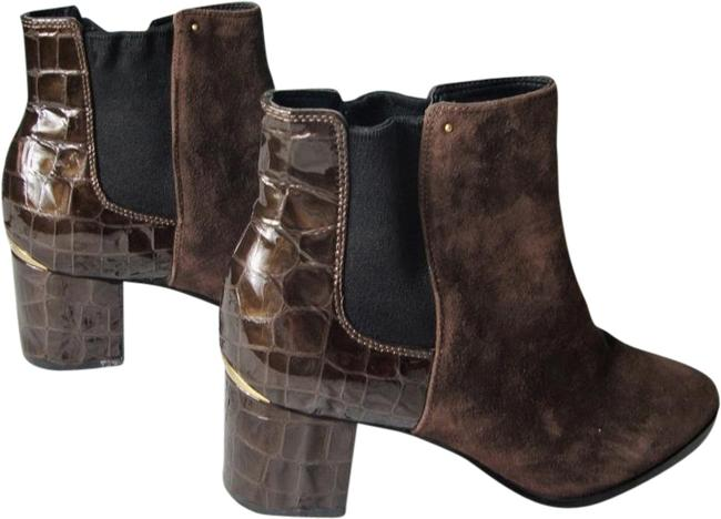 Item - Brown 'felda' Faux Leather Ankle Boots/Booties Size US 7.5 Regular (M, B)