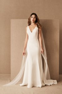 Jenny Yoo Ivory Tana Bhldn Feminine Wedding Dress Size 12 (L)