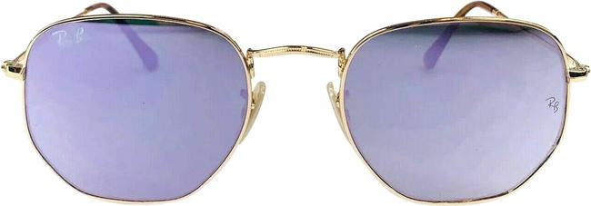 Item - Gold Frame Lilac Lens Hexagonal 001/80 Mirrorr Sunglasses