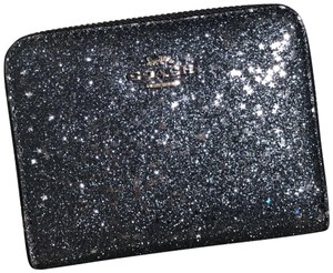 Coach F38693 Boxed Small Zip Around Wallet with Star Glitter