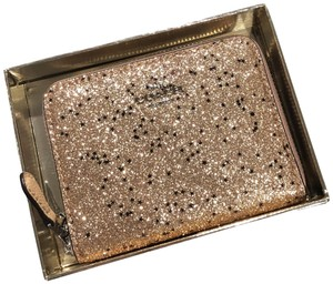 Coach Boxed Small Zip Around with Star Glitter