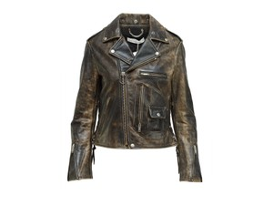 Golden Goose Deluxe Brand 500-1000 Distressed Size-xs Leather Jacket