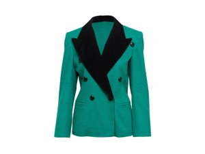 Escada 100-200 Double Breasted Margaretha Ley Vintage Green Blazer