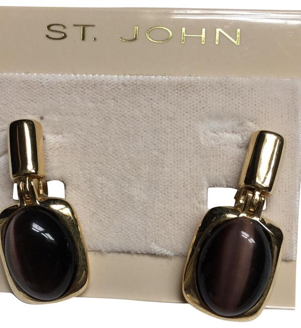 Item - Gold and Amethyst Earrings
