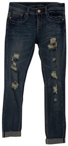 Almost Famous Clothing Boyfriend Cut Jeans-Distressed