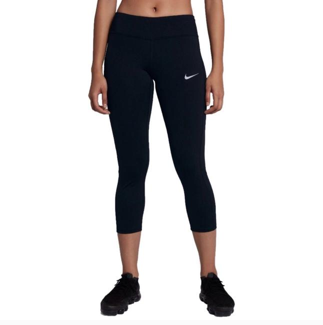Item - Black Womens Racer 3.0 Cropped Leggings Activewear Bottoms Size 6 (S)