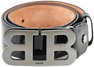 Bally Bally Mirror Logo Patent Leather Belt Size 110/44
