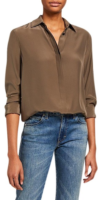 Item - With Tag Anderson Silk Shirt Button-down Top Size Petite 4 (S)
