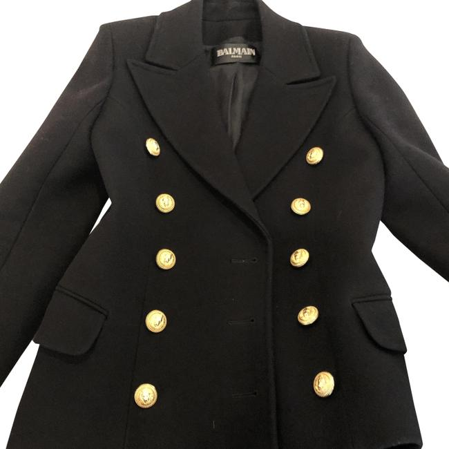 Item - Black New Double-breasted Wool & Cashmere 38 Us Coat Size 6 (S)