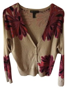INC International Concepts Floral Like New Cardigan
