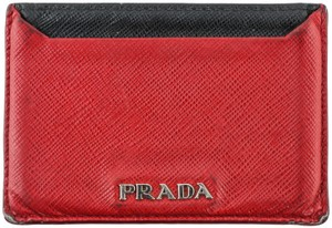 Prada Prada Red Saffiano Card Case