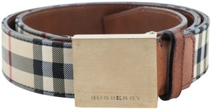 Burberry Burberry Horseferry Check Belt with Plaque Buckle