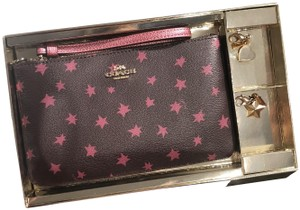 Coach F38647 Boxed Large Wristlet with Star Print and Charms