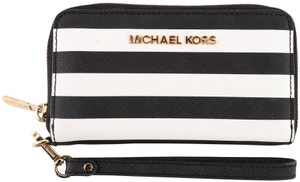 Michael Kors Michael Kors Stripped Leather Wallet