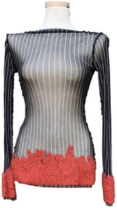 """Jean-Paul Gaultier Polyamide Sleeves 25"""" Armpit To Armpit 16 Length @ Rear 25"""" Top Multicolored"""