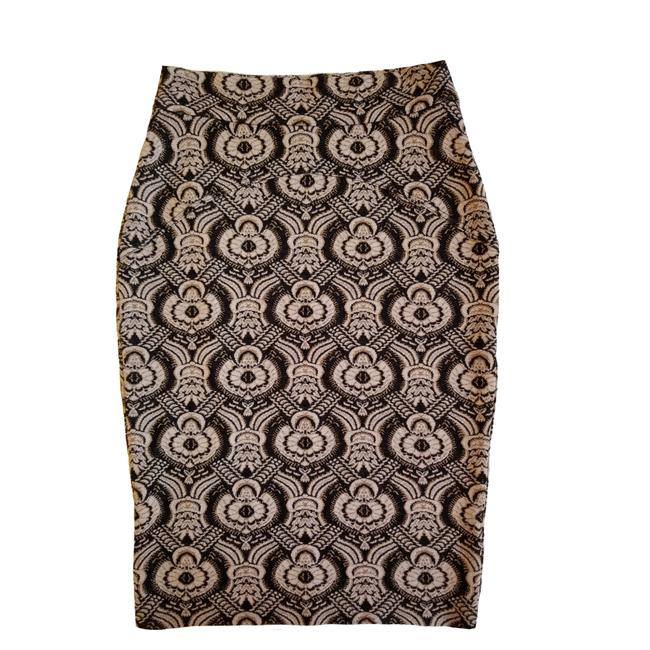 Item - Black and Gold Marta Pencil Skirt Size 6 (S, 28)