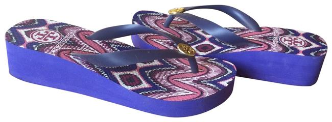 Item - Purple Wedge Flip Flop Sandals Size US 5 Regular (M, B)
