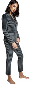 L'ATISTE Two Piece Striped Print Suit