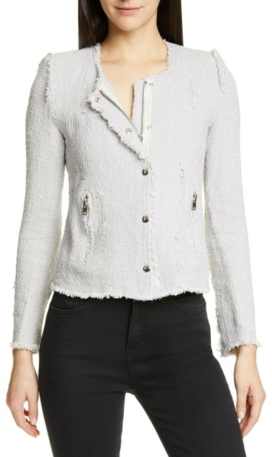 Item - Grey Agnette Distressed Tweed Women's In Light Jacket Size 10 (M)