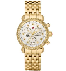 Michele Stainless Steel CSX Mother of Pearl Diamond MWW03M000141