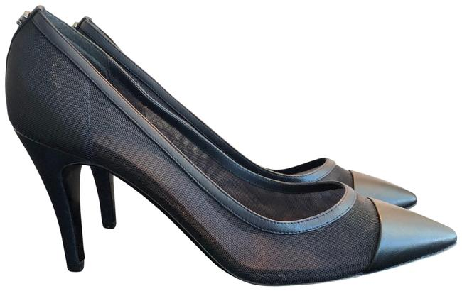 Item - Navy Blue Mesh Pumps Size EU 38.5 (Approx. US 8.5) Regular (M, B)