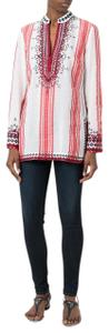 Tory Burch Embroidered Wool Tunic