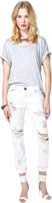Item - White Distressed Saints Relaxed Fit Jeans Size 26 (2, XS)