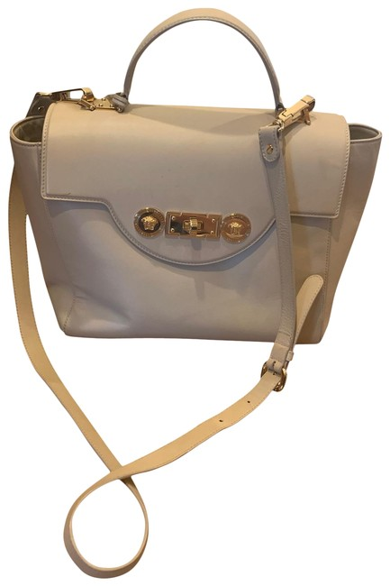 Item - Nude with Gold Hardware Leather Satchel