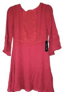 Doe & Rae short dress Ruby Red Summer Embroidered Lace Trim on Tradesy