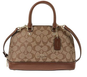 Coach Satchel in Khaki/Saddle