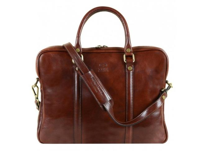 Item - The Hobbit Brown Calfskin Leather Laptop Bag