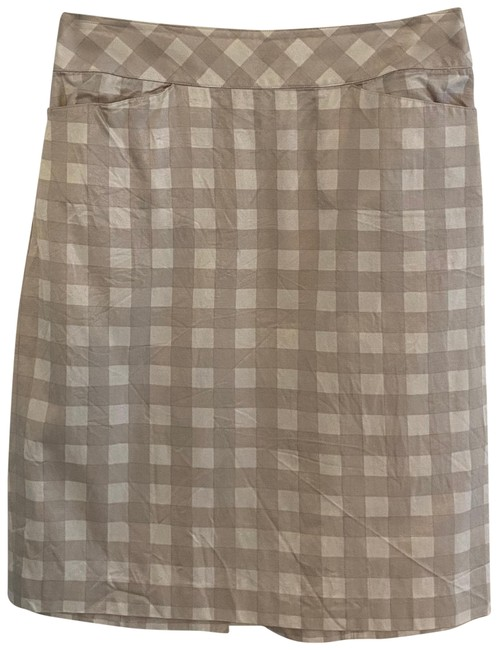 Item - White and Grey Pencil Skirt Size 2 (XS, 26)