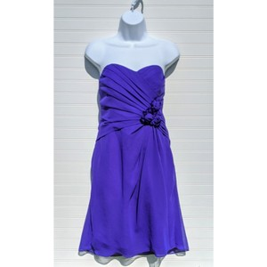 Alfred Angelo Purple Storm Formal Bridesmaid/Mob Dress Size 8 (M)