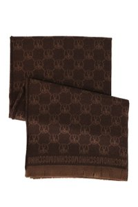 "Moschino MOSCHINO 100% WOOL, Brown throw blanket, 60"" x 70"" MADE IN ITALY, $495"