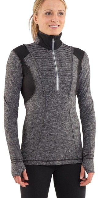 Item - Black Gray Run: Your Heart Out Pullover Activewear Top Size 10 (M)