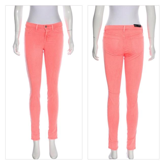 Item - Neon Coral Mid-rise Skinny Jeans Size 25 (2, XS)