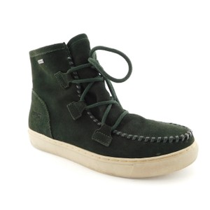 Cougar Lace Up Fabiola Snow Winter Moccasin Dark Green Boots