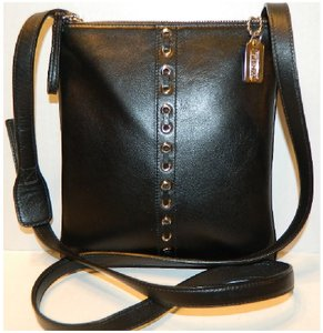 Coach Vintage Cowhide Leather Messenger Laced Leather Cross Body Bag
