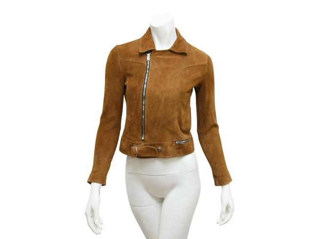 Item - Brown Cropped Suede Jacket Size 4 (S)