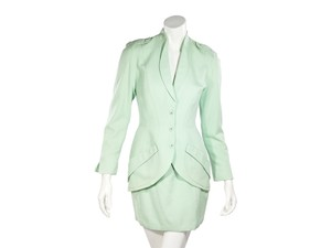 Thierry Mugler Mint Green Vintage Thierry Mugler Skirt Suit Set