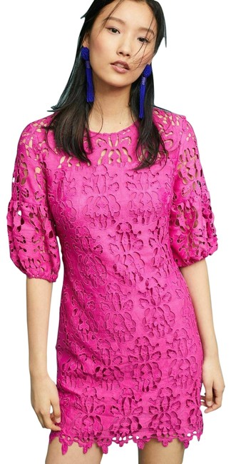 Item - New Pink Anthropologie Amelia Rosy Lace Short Cocktail Dress Size 2 (XS)