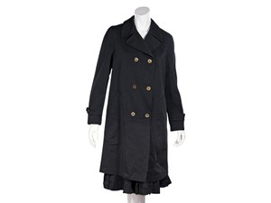 COMME des GARÇONS 200-500 Double Breasted Pleated Trench Coat