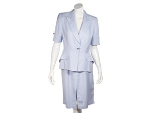 Thierry Mugler Light Blue Thierry Mugler Skirt Suit Set