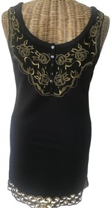 Free People short dress Black/Gold on Tradesy