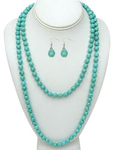 Preload https://item2.tradesy.com/images/turquoise-24-inch-stunning-beads-and-earrings-set-necklace-2726941-0-0.jpg?width=440&height=440