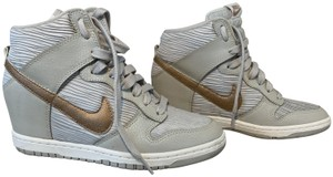 Nike White with rose gold Athletic