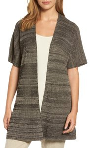 Eileen Fisher Open Striped Kimono Cardigan Short Sleeve Sweater